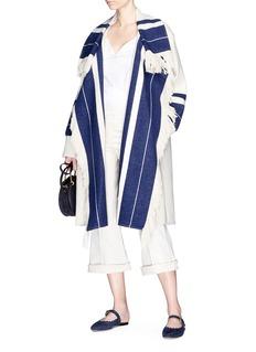 Chloé Fringe stripe knit coat