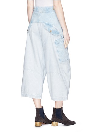 Back View - Click To Enlarge - Chloé - Patchwork cropped cargo jeans