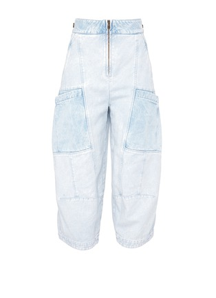 Main View - Click To Enlarge - Chloé - Patchwork cropped cargo jeans