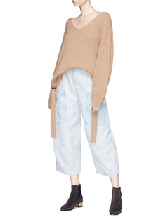 Chloé Patchwork cropped cargo jeans