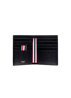 Thom Browne Diagonal stripe leather bifold wallet