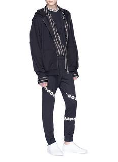 DAMIR DOMA x Lotto Papio品牌标志条纹休闲裤