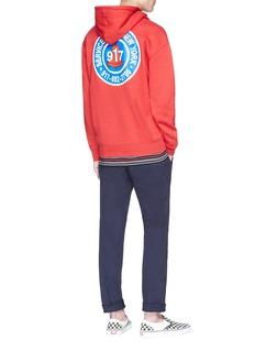 Nine One Seven 'Club' logo print hoodie