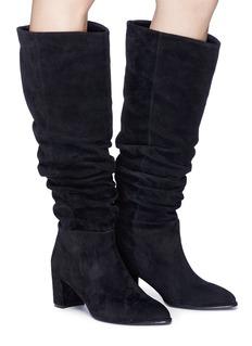 Pedder Red 'Erin' suede knee high boots