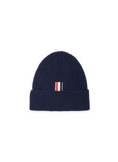 THOM BROWNE 条纹点缀羊绒针织帽