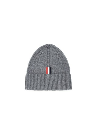 Figure View - Click To Enlarge - Thom Browne - Stripe cashmere beanie