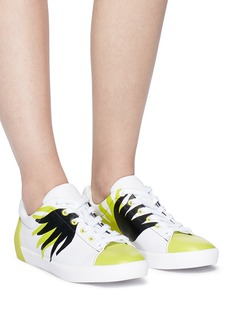 Ash 'Nicky' flame print leather sneakers