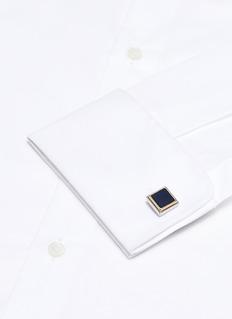 Babette Wasserman 'Step Square' enamelled cufflinks