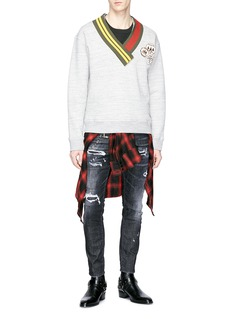 Dsquared2 'Skater' chain ripped jeans