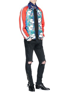 Dsquared2 Floral print colourblock twill coach jacket