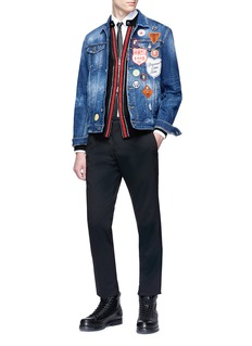 Dsquared2 Stripe trim wool zip cardigan