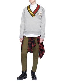 Dsquared2 Rib knit collar sweatshirt