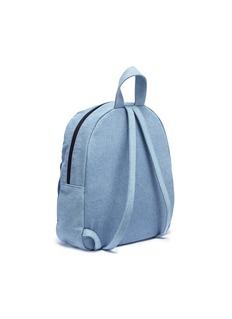 Stella Mccartney Kids Twist bow denim kids backpack