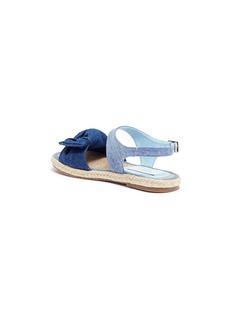 Stella Mccartney Kids 'Rori' bow denim kids sandals