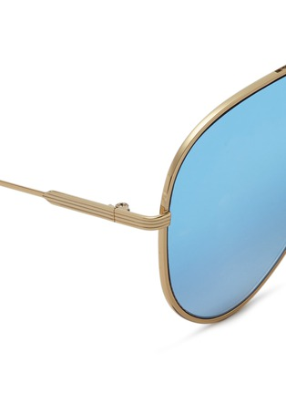 Detail View - Click To Enlarge - Victoria Beckham - 'Loop Aviator' metal mirror sunglasses