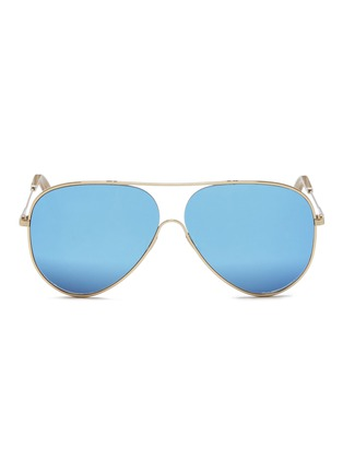 Main View - Click To Enlarge - Victoria Beckham - 'Loop Aviator' metal mirror sunglasses