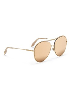 Victoria Beckham 'Loop Round' 24k gold plated aviator mirror sunglasses