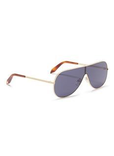 Victoria Beckham 'Grooved Metal Visor' aviator sunglasses