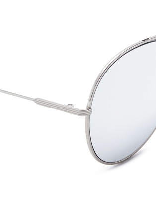 Detail View - Click To Enlarge - Victoria Beckham - 'Loop Round' metal mirror aviator sunglasses