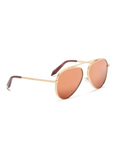 Victoria Beckham Browline bridge mirror aviator sunglasses