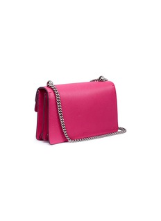 Gucci 'Dionysus' slogan patch floral appliqué small leather shoulder bag