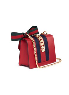 Gucci 'Sylvie' mini chain web leather bag