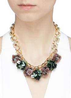 Lulu Frost 'Rumba' sequin pompom chain necklace
