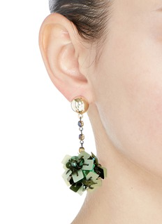Lulu Frost 'Rumba' sequin pompom drop earrings