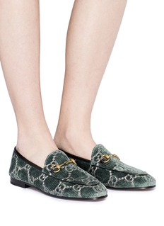 Gucci 'Jordaan GG' embroidered velvet loafers
