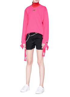 Collina Strada Grommet cuff sweatshirt