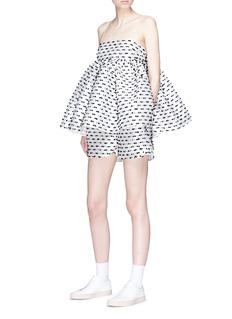 Cecilie Bahnsen 'Nivi' stripe fil coupé satin shorts