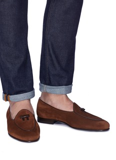 Bow-Tie 'Henry' bow suede loafers