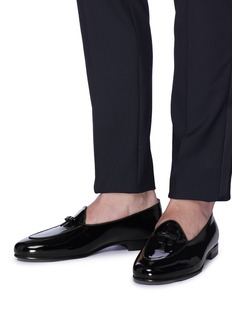 Bow-Tie 'Henry' bow patent leather loafers