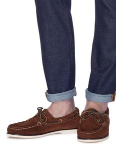 Bow-Tie 'Adams' suede boat shoes
