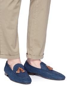 CASABLANCA1942 'Cesare' woven raffia loafers