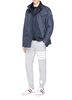 Moncler 'Maglia' jersey panel down puffer jacket