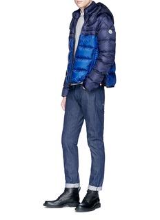 Moncler 'Brech' colourblock hooded down puffer jacket