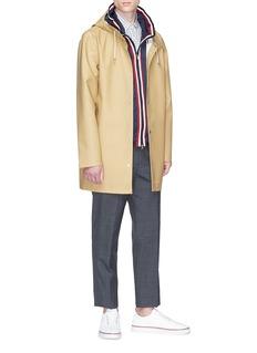 Moncler 'Anton' stripe placket hooded jacket