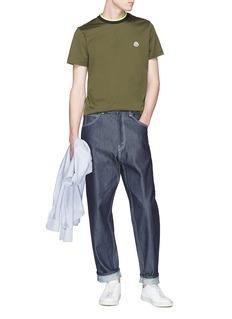 Moncler Stripe collar T-shirt