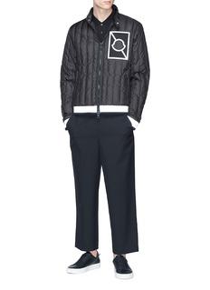 Moncler Capsule x Craig Green 'Altman' reflective stripe down puffer jacket
