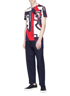 Moncler Capsule x Craig Green logo patch quilted panel canvas pants