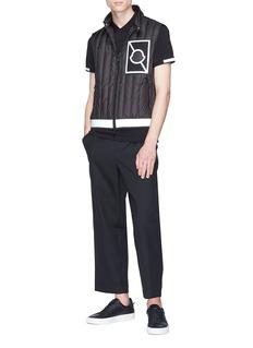 Moncler Capsule x Craig Green 'Alasia' reflective logo patch down puffer vest