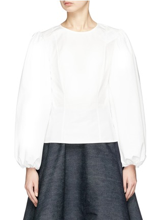 Main View - Click To Enlarge - CALVIN KLEIN 205W39NYC - Puff sleeve shirt