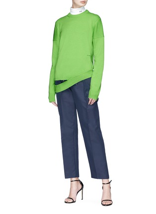 Figure View - Click To Enlarge - CALVIN KLEIN 205W39NYC - Cutout hem cashmere sweater