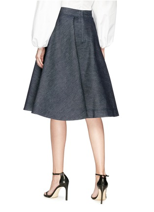 Back View - Click To Enlarge - CALVIN KLEIN 205W39NYC - Flared denim skirt
