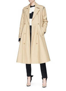 CALVIN KLEIN 205W39NYC Cutout shoulder twill trench coat
