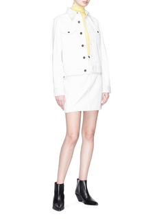 CALVIN KLEIN 205W39NYC Graphic patch denim skirt