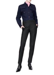 CALVIN KLEIN 205W39NYC Contrast topstitching oversized Western denim shirt