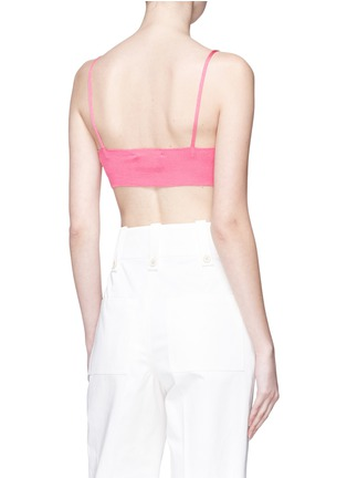 Back View - Click To Enlarge - CALVIN KLEIN 205W39NYC - Silk rib knit bra top