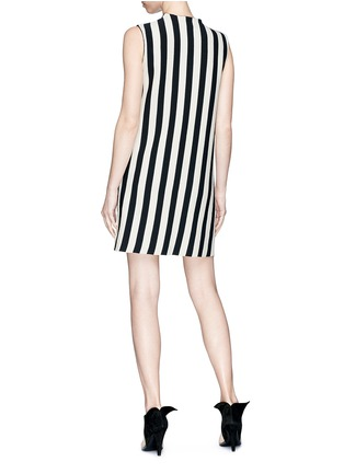 Back View - Click To Enlarge - CALVIN KLEIN 205W39NYC - Shoulder strap stripe twill dress